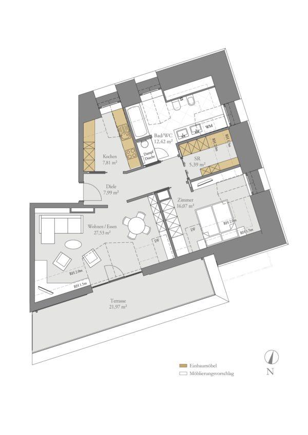 Top Floor Suite - Grundriss